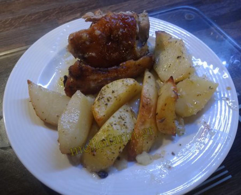 Αρνάκι φούρνου με πατάτες – video συνταγή